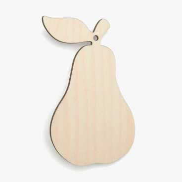 Wooden Birch Plywood Pear Craft Shape Blank