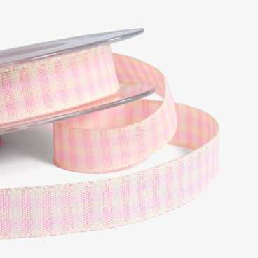 Pink Rustic Gingham Ribbon