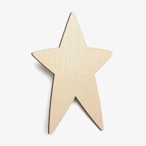 Wooden Birch Plywood Primitive Star Craft Shape