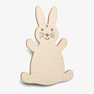 Wooden Rabbit Easter Decoration Craft Shape