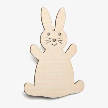 Wooden Rabbit Easter Decoration Craft Shape