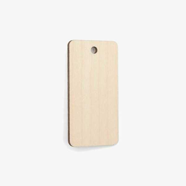 Wooden Rectangle Tag