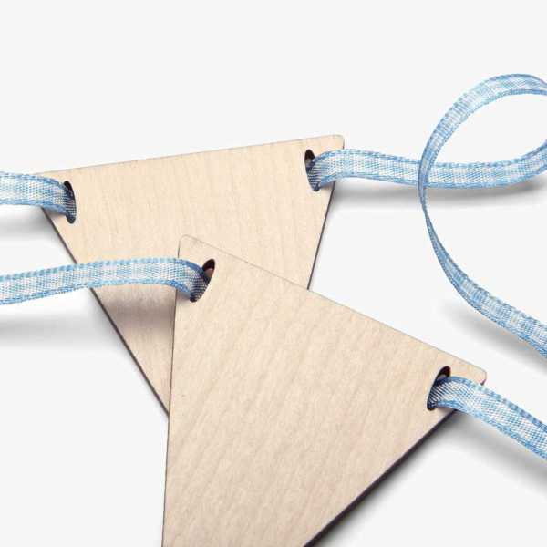 Sky Gingham Ribbon