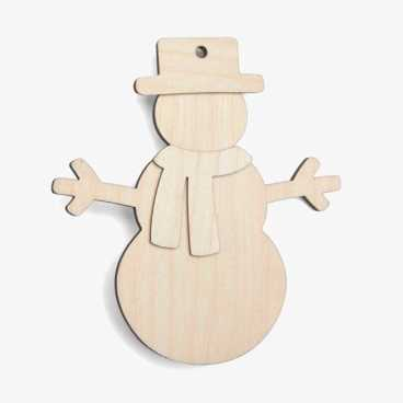 Wooden Snowman Christmas Craft Kit