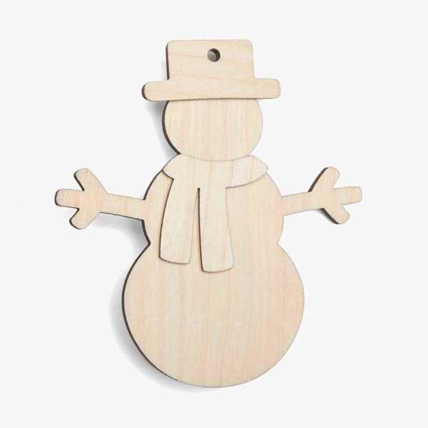 Wooden Snowman Christmas Craft Kit