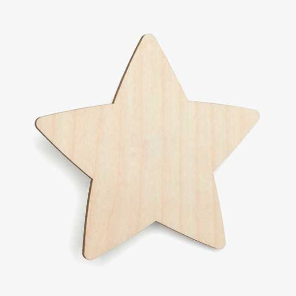 Wooden Birch Plywood Star Craft Shape