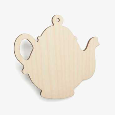 Wooden Birch Plywood Teapot Craft Shape Blank