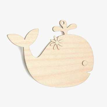 Wooden Birch Plywood Whale Craft Shape Kit