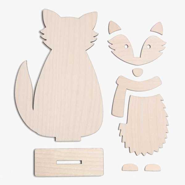 Wooden Fox Craft Kit