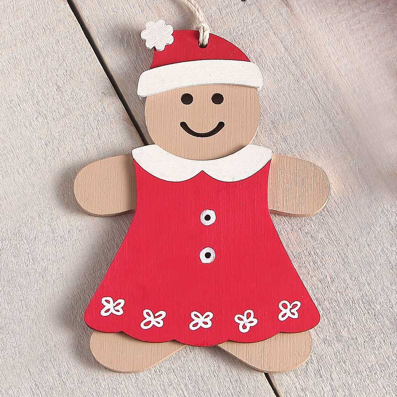 Wooden Gingerbread Girl With Clothes Craft Kit Bailey Wood