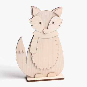 Wooden Fox Craft Kit Freestanding