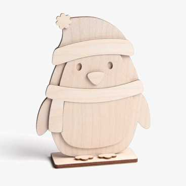 Wooden Penguin Craft Kit Standing