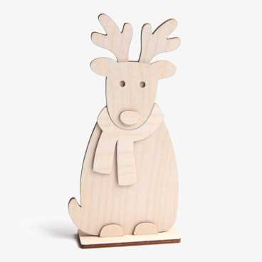 Wooden Reindeer Craft Kit Standing