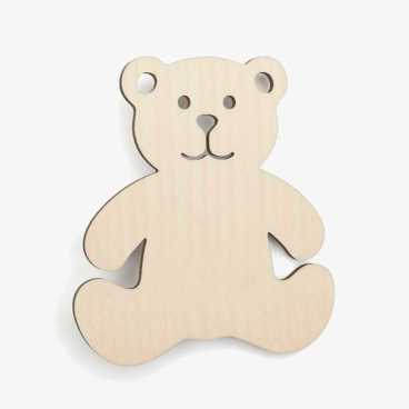 Bear Wooden Craft Shapes Blanks