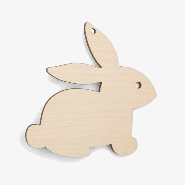 Bunny Wooden Easter Craft Shapes Blanks