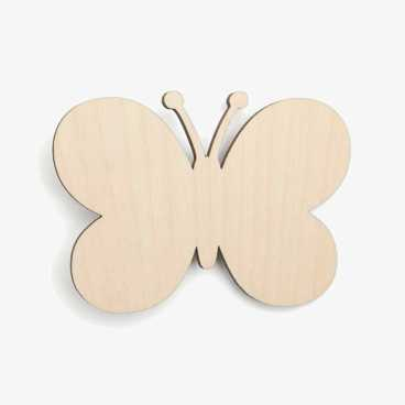 Butterfly Rounded Wooden Craft Shapes Blanks