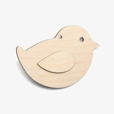 Chick Wooden Easter Craft Shapes Blanks