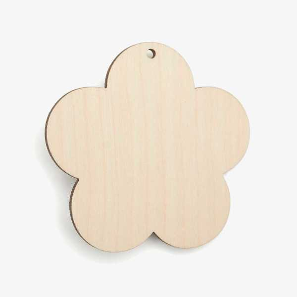 Flower Wooden Craft Shapes Blanks