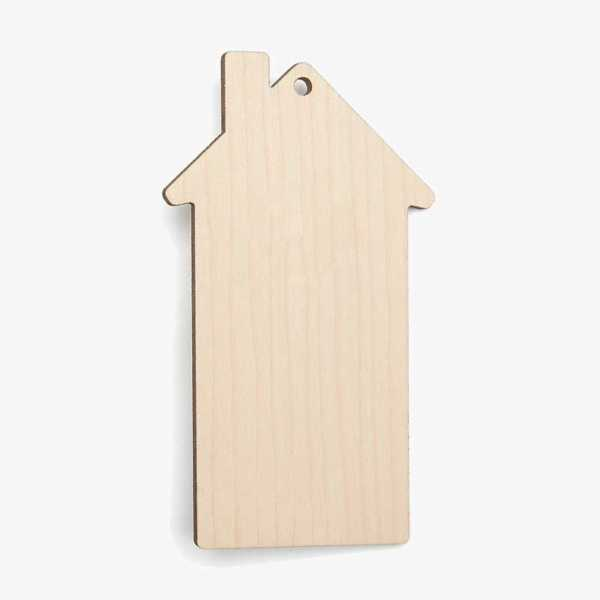 House Wooden Craft Shapes Blanks