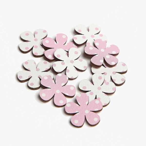 Pink Polka Dot Primrose Embellishments