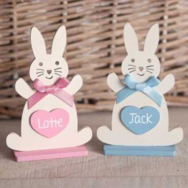 Wooden Freestanding Rabbit Shapes