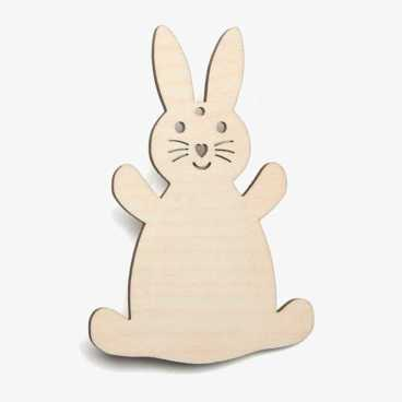 Rabbit Wooden Easter Craft Shapes Blanks