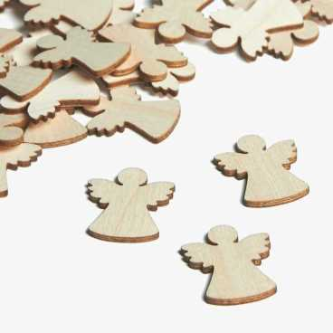 Wooden Angel Christmas Embellishments Small Mini Shapes