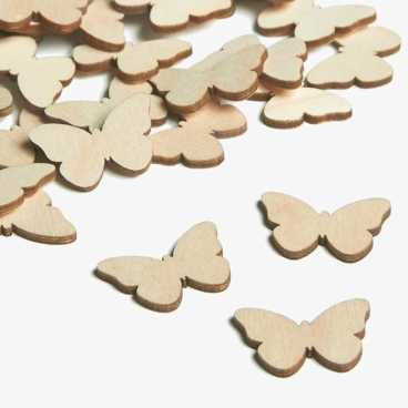 Wooden Butterfly Embellishments Small Mini Shapes