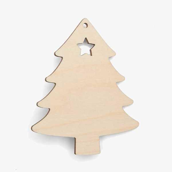 Wooden Christmas Tree Decoration Craft Shape Blanks