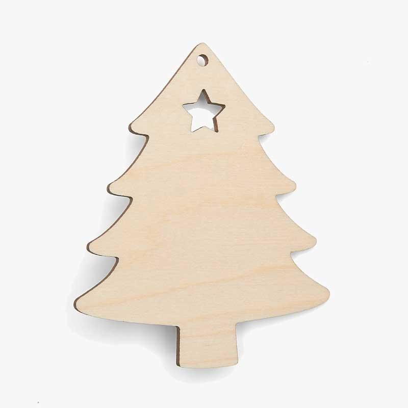 Christmas Tree Cutout.Wooden Tree Shapes Star Cutout