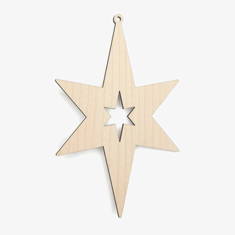 Wooden Christmas Decorations.Wooden Christmas Star Shapes Star Cutout