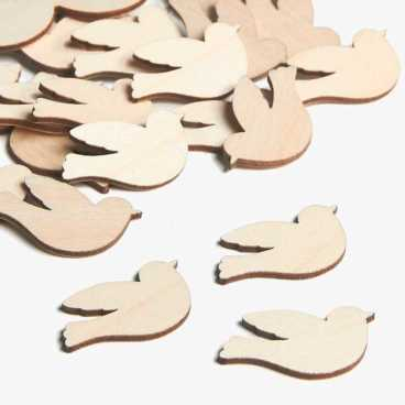 Wooden Dove Embellishments Small Mini Shapes