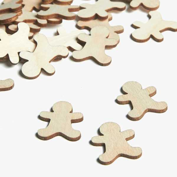 Wooden Gingerbread Embellishments Small Mini Shapes