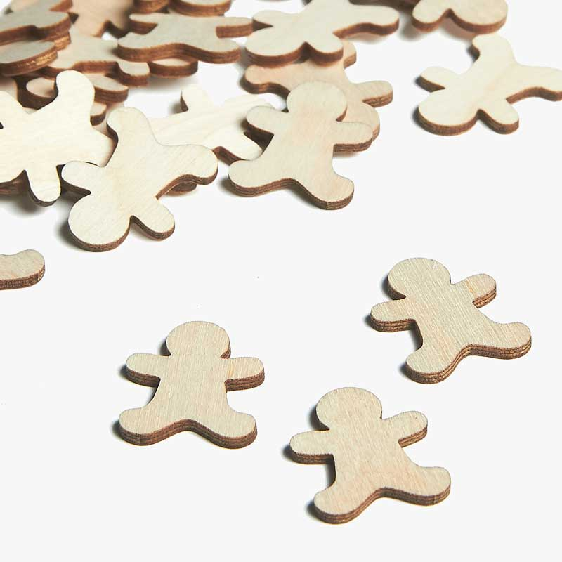 Wooden Gingerbread Embellishments
