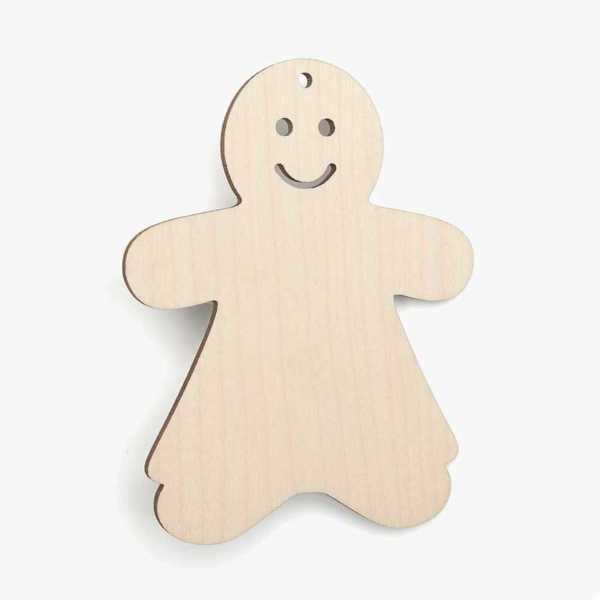 Wooden-Gingerbread-Girl Christmas Decoration Craft Shape