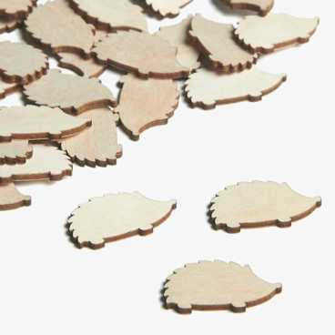 Wooden Hedgehog Embellishments Small Mini Shapes