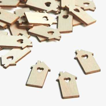 Wooden House Embellishments Small Mini Shapes