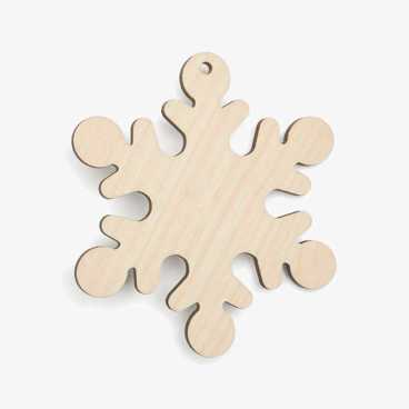 Wooden Snowflake Christmas Decoration Craft Shape