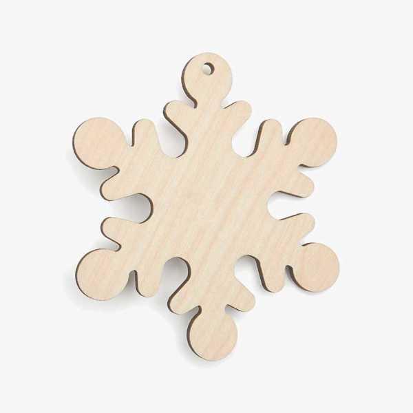 Wooden Snowflake Christmas Decoration Craft Shape