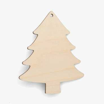 Wooden Tree Christmas Decoration Craft Shape