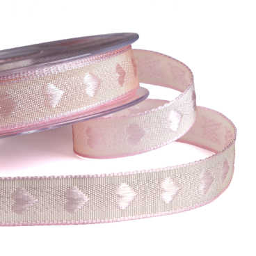 Vintage Heart Pink Ribbon