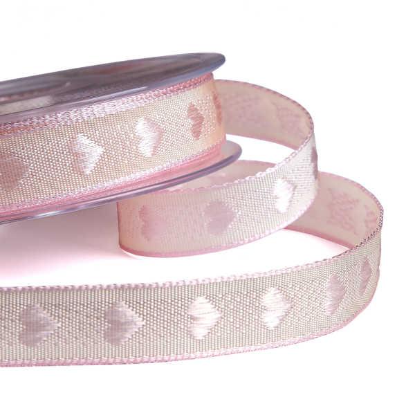 Vintage Heart Pink Ribbon