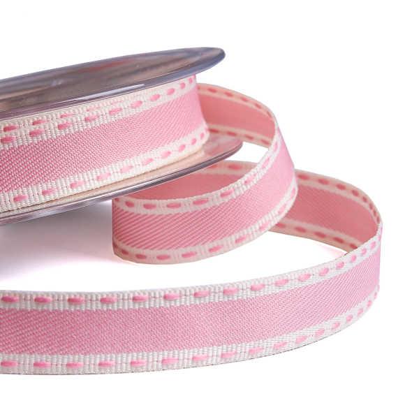 Pink Vintage Stitch Ribbon