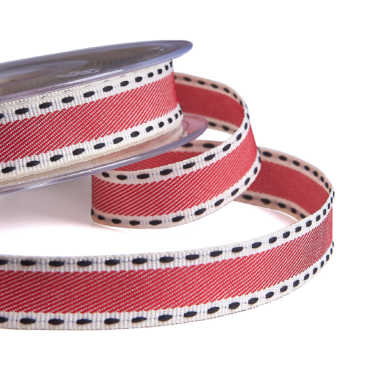 Pink Vintage Stitch Ribbon