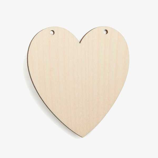 Wooden Classic Heart Shapes – 2 holes