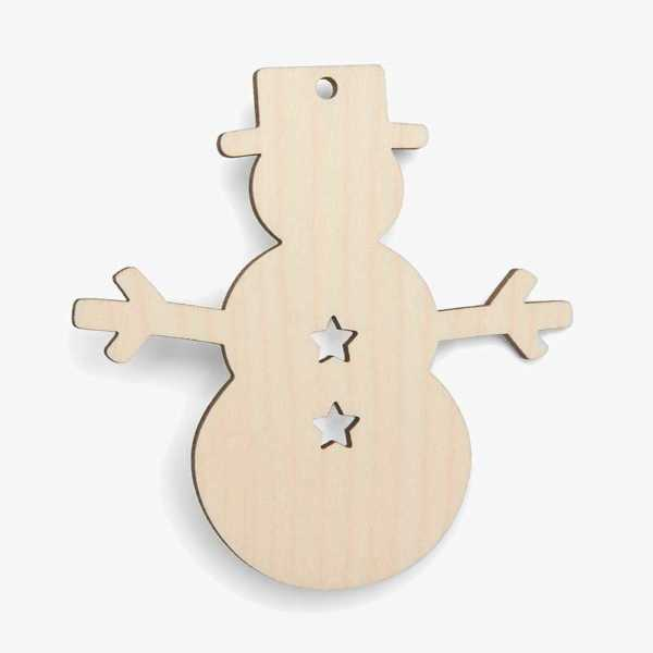 Wooden Snowman Shapes - Stars Cutouts