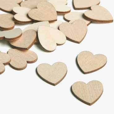Wooden Classic Heart Embellishments