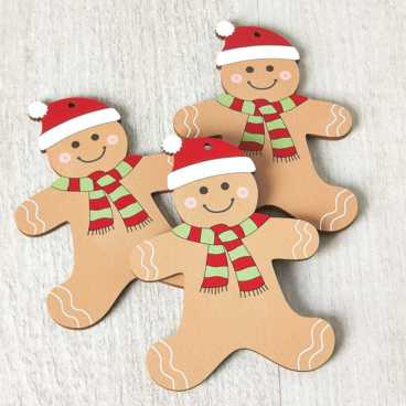 Printed Wooden Gingerbread Decoration