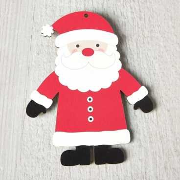 Printed Wooden Santa Decoration
