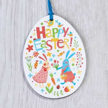 Printed Wooden Easter Egg Decoration 1